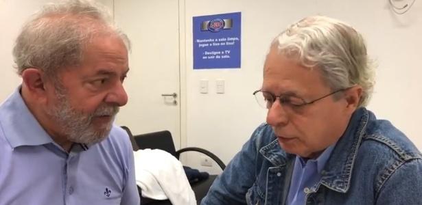 Lula em conversa gravada com Frei Betto no Sindicato dos Metalúrgicos do ABC antes de ser preso