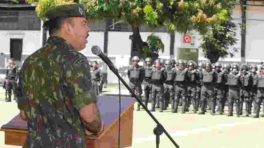 O secretário de Segurança, Richard Nunes, em evento da Polícia Militar no Rio - ESTEFAN RADOVICZ/AGÊNCIA O DIA/AGÊNCIA O DIA/ESTADÃO CONTEÚDO