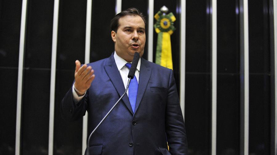 Presidente da Câmara dos Deputados, Rodrigo Maia (DEM-RJ), discursa no plenário da Casa - J.Batista/Câmara dos Deputados