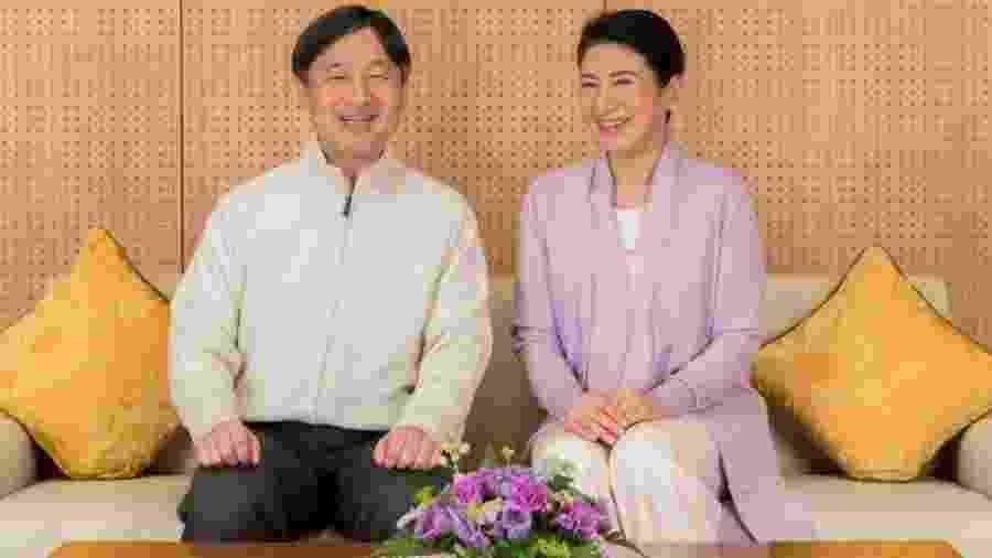 Imperador japonês Naruhito e sua esposa, a imperatriz Masako - Reuters