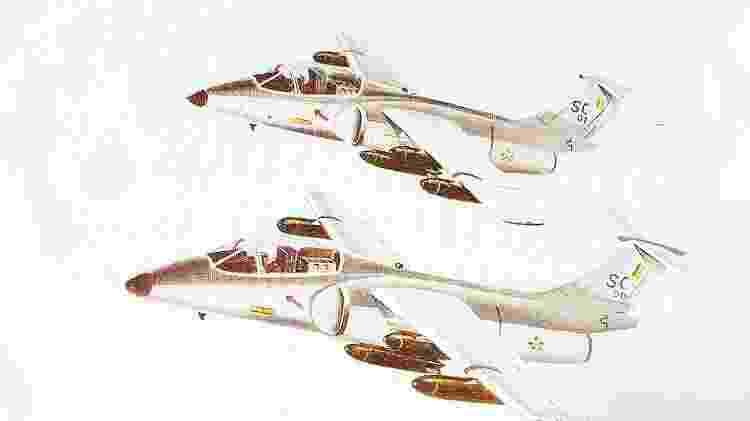 O AX seria equipado com seis tanques de combustível, com o objetivo de aumentar a sua autonomia - Revista Flap