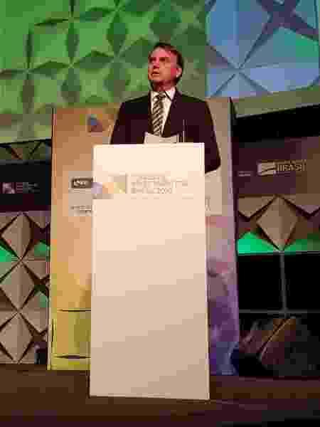 Bolsonaro durante discurso  - Divulgação/Ministério da Economia - Divulgação/Ministério da Economia