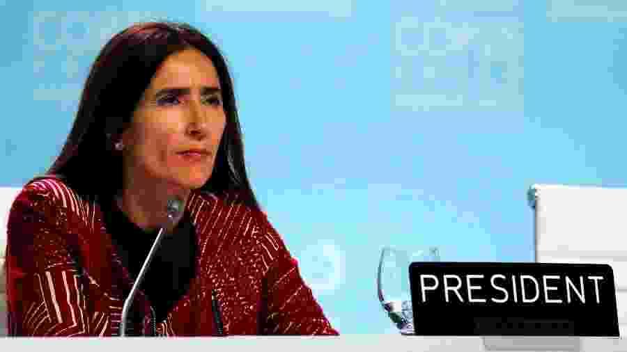 14.dez.2019 - Carolina Schmidt, ministra do Meio Ambiente do Chile e presidente da COP25 - Nacho Doce/Reuters