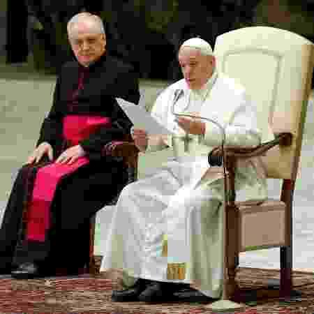 Papa Francisco em audiência semanal no Vaticano - REMO CASILLI