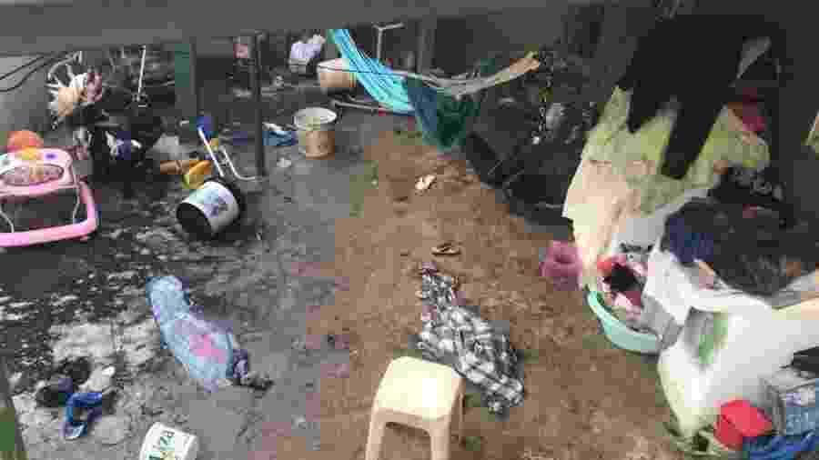 Casa onde incêndio matou uma crianças de deixou outros três feridos em Samambaia Norte (DF) - Jéssica Nascimento/UOL
