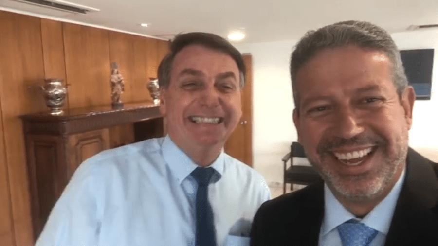O presidente e Lira: Bolsonaro encontra o seu centrão - reprodução