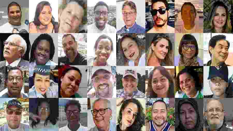 Imagens de vítimas do novo coronavírus no Brasil - Arte/UOL