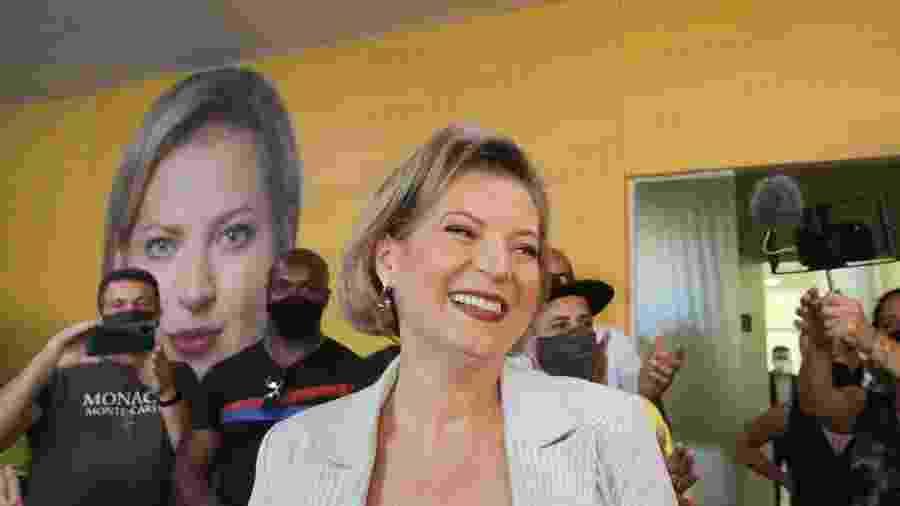 13 out. 2020 - Joice Hasselmann (PSL) participa de entrevista coletiva com candidatas mulheres em São Paulo - FÁBIO VIEIRA/ESTADÃO CONTEÚDO