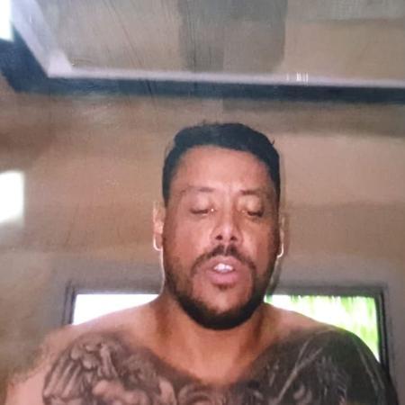 Márcio Geraldo Alves Ferreira, 34 anos, o Buda, integrante do PCC preso acusado de participar do assalto a banco em Cricíúma (SC) - Reprodução