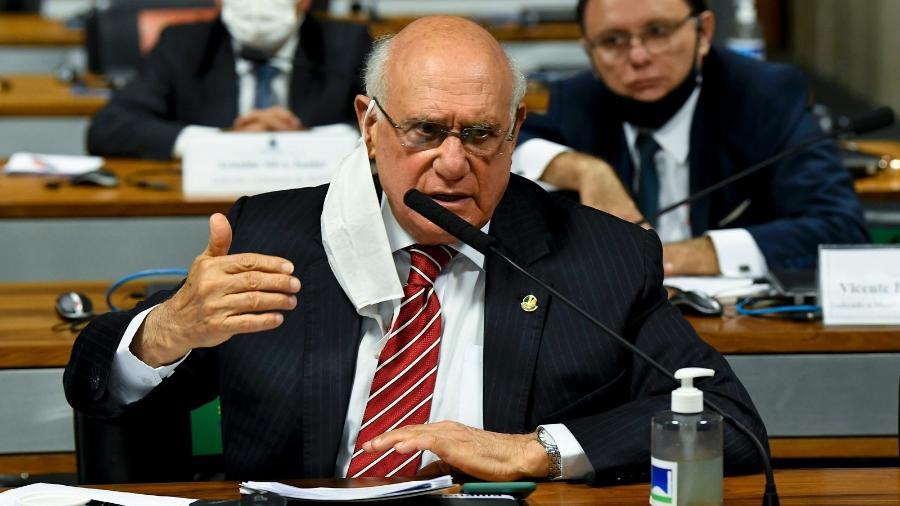 O senador Lasier Martins (Podemos-RS) em sessão da Comissão de Infraestrutura (CI) - Jefferson Rudy/Agência Senado