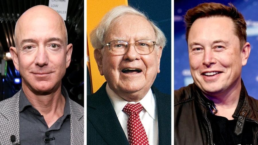 Reportagens da ProPublica dizem ter tido acesso a documentos de Jeff Bezos, Warren Buffet e Elon Musk - Getty Images