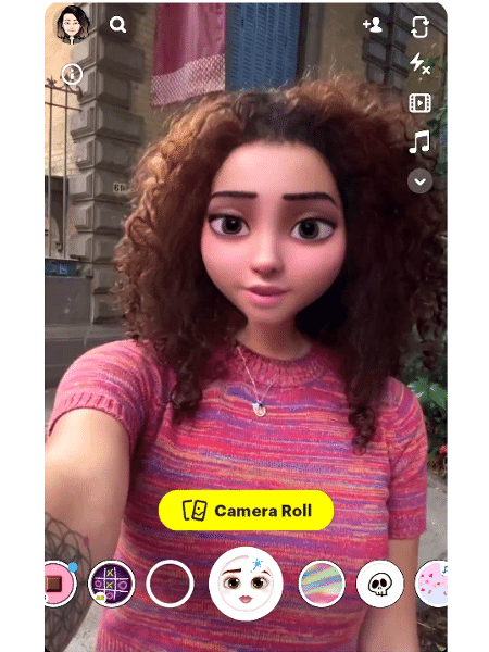 Filtro Cartoon 3D Style do Snapchat - Reprodução