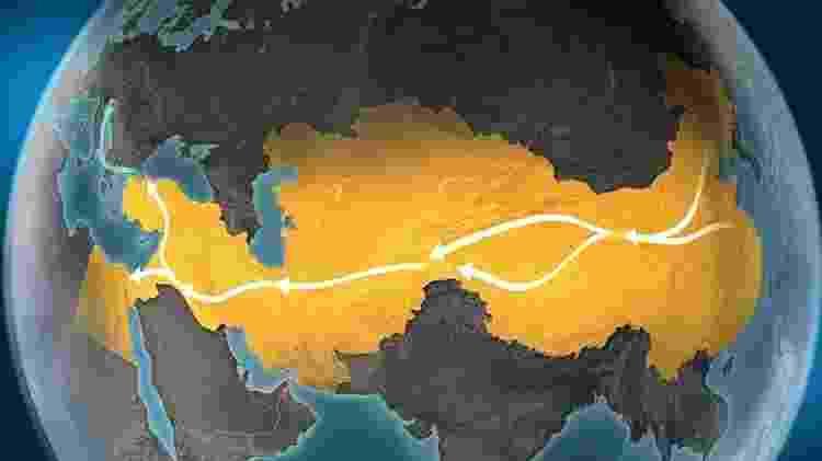 Há quem acredite que a origem do hawala remonta à Rota da Seda - Getty Images - Getty Images