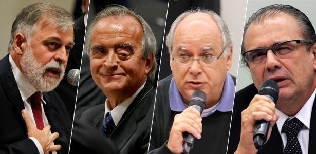 Da esquerda para a direita: Paulo Roberto Costa, Nestor Cerveró, Renato Duque e Pedro Barusco