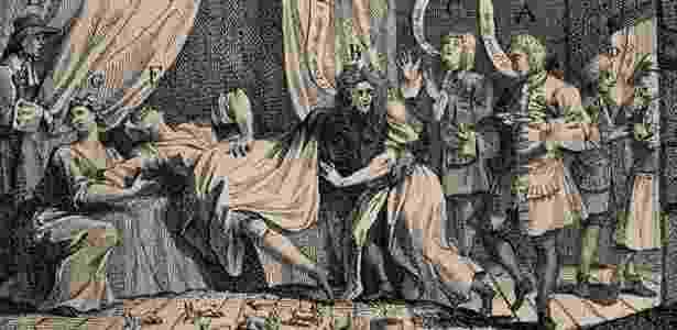 28.set.2016 - O caso de Mary Toft, que acreditava ter dado à luz coelhos, provocou intenso debate no meio médico na Inglaterra - Wellcome Library, Londres - Wellcome Library, Londres