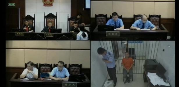 Exemplos de julgamento transmitido pela internet na China
