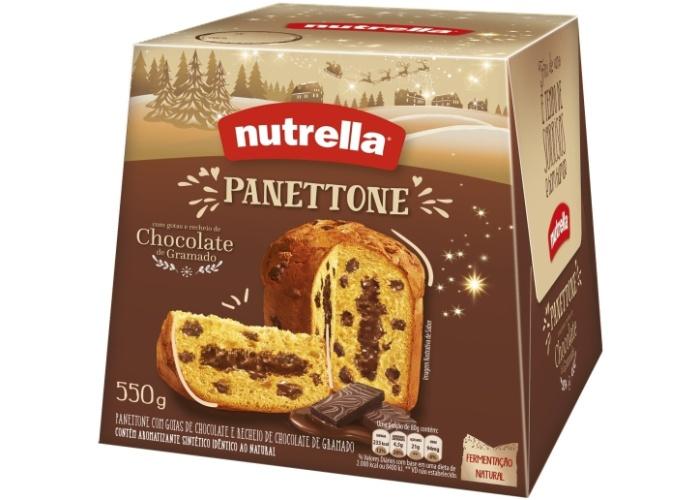 Panetone Nutrella 550g chocolate de Gramado R$ 17,90