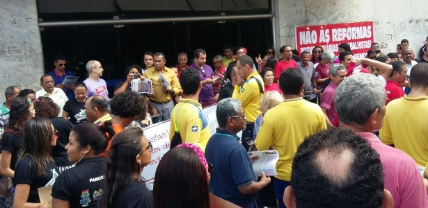 PI: protesto em frente ao prédio do INSS em Teresina - Reprodução/Twitter/CUT_Brasil