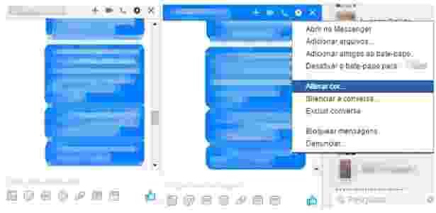 Alterando cor do Facebook Messenger - 1 - Reprodução - Reprodução