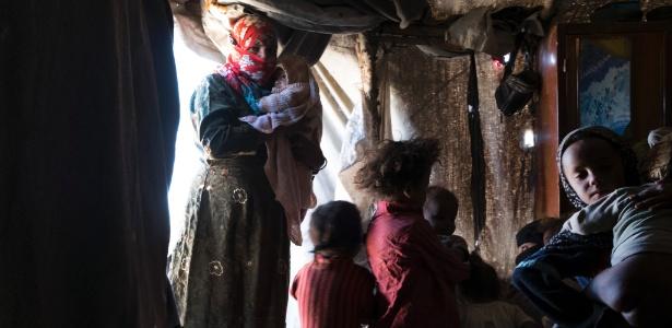 Um campo para pessoas descoladas no Khamer, Iêmen - Tyler Hicks/The New York Times