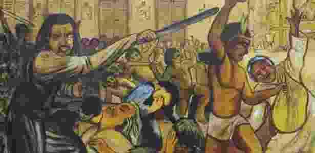 Massacre RN - Imagem pintada por Padre Eladio - Imagem pintada por Padre Eladio