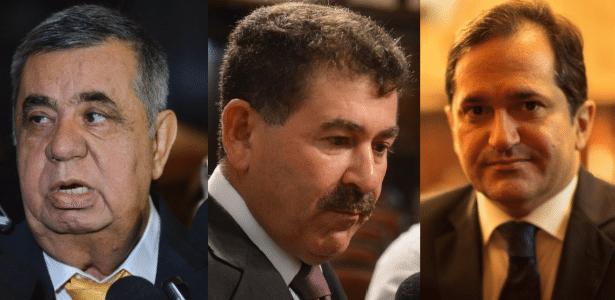 Deputados estaduais Jorge Picciani (PMDB), Paulo Melo (PMDB) e Edson Albertassi (PMDB), denunciados pelo MPF