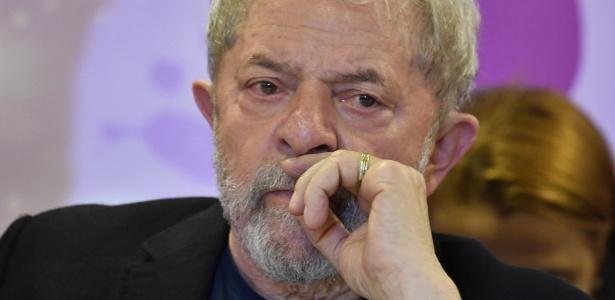 O ex-presidente Lula durante evento do PT em outubro
