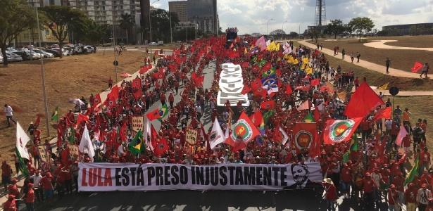 Marcha em defesa da candidatura do Lula