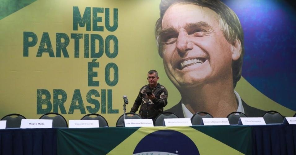 Candidato Jair Bolsonaro, do PSL, fará pronunciamento à imprensa em hotel de São Paulo