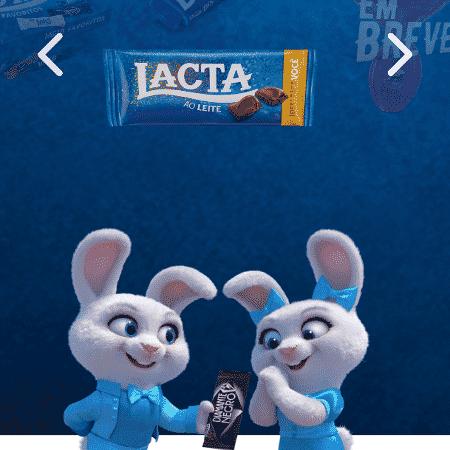 Lacta App Páscoa - Reprodução - Reprodução