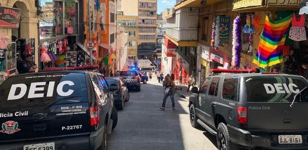 Centro de SP   Polícia apreende 3,5 toneladas de produtos falsificados