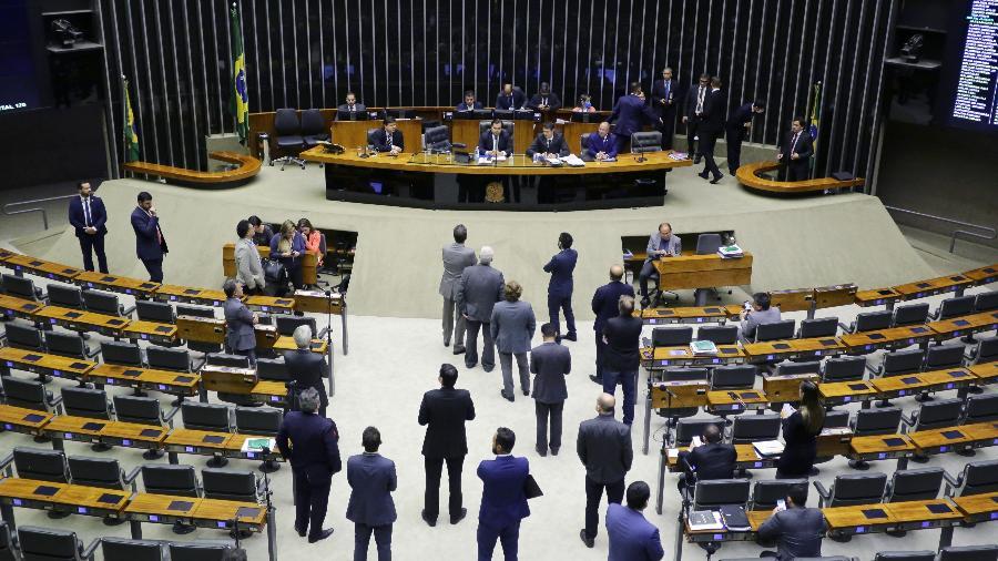 Plenário da Câmara esvaziado - Michel Jesus/ Divulgação Câmara dos Deputados