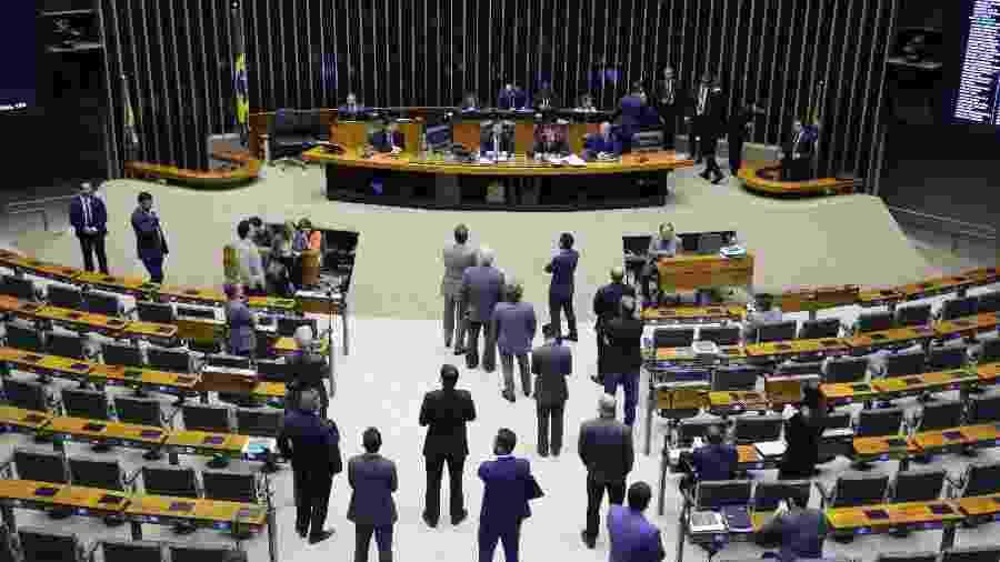 Plenário da Câmara esvaziado, após restrição de circulação de pessoas pelo Congresso - Michel Jesus/ Divulgação Câmara dos Deputados