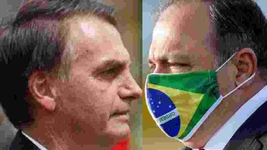 O presidente Jair Bolsonaro e o interventor militar na Saúde, Eduardo Pazuello: eles assumiram o risco de matar por ação e omissão - Fernando Frazão/Agência Brasil; Reprodução