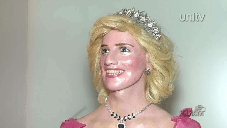 Escultura de cera de Lady Di feita por Arlindo Armacollo - Reprodução/Folha de Londrina
