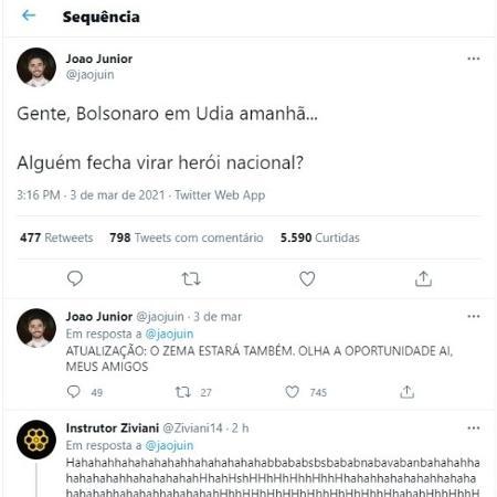 Tuíte contra Jair Bolsonaro - Reprodução / Twitter