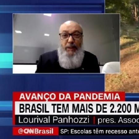 Lourival Panhozzi diz à CNN Brasil que funerárias estão à beira do colapso - Reprodução/CNN Brasil