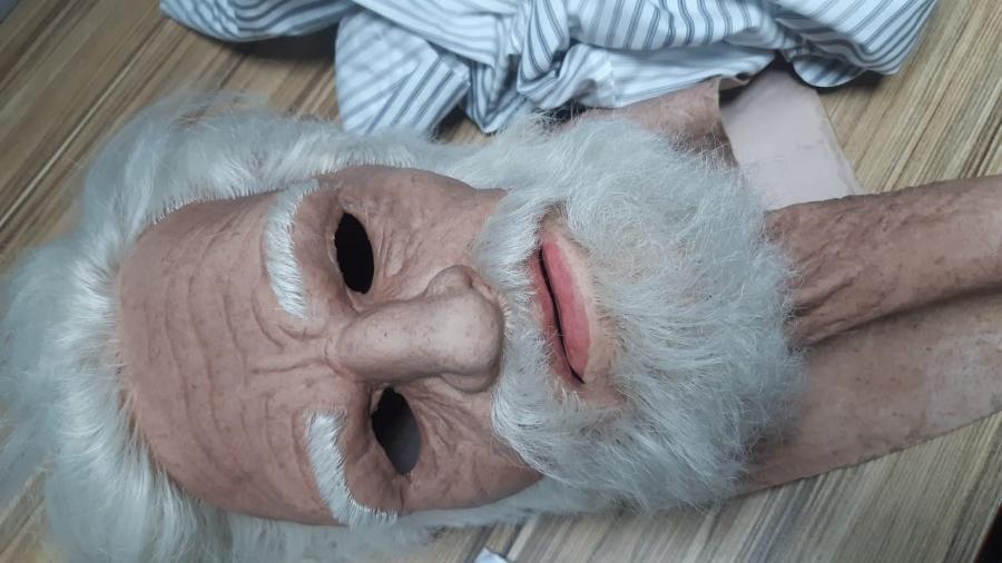 Máscara usada por suspeito de tentativa de assalto em Vila Velha, na Grande Vitória (ES) - Divulgação/Polícia Militar