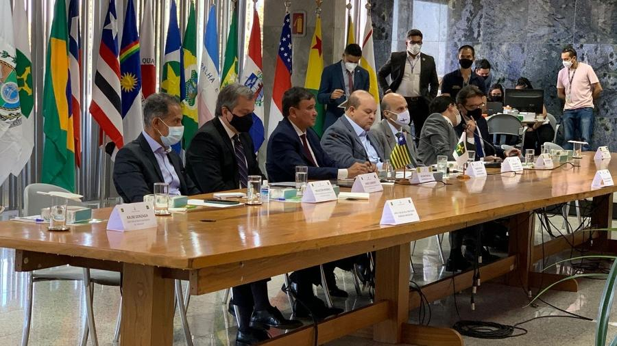Reunião dos governadores está sendo realizada no Palácio do Buriti, sede do governo de Brasília. - Lucas Valença/UOL