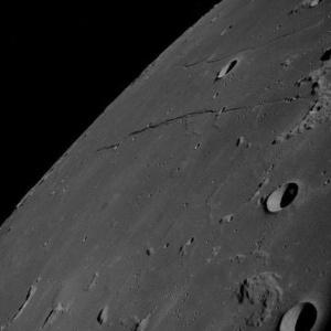 Imagem da superfície da Lua