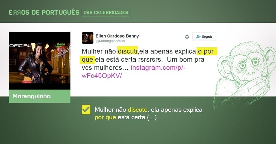erros de português de celebridades - Moranguinho - corrigido