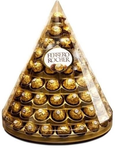 A Ferrero lançou, para esta Páscoa, uma caixa em formato de pirâmide com 96 bombons Ferrero Rocher. Será vendida no mercado gourmet Eataly, em São Paulo, e em algumas lojas virtuais, por R$ 299