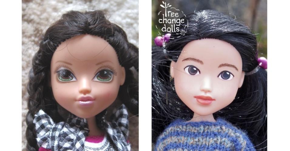 bb143283ad92c 11.fev.2016 - Bonecas da artesã australiana Sonia Singh antes (à esquerda