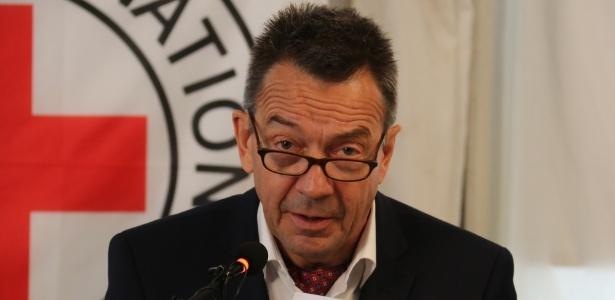 O presidente do Comitê Internacional da Cruz Vermelha, Peter Maurer