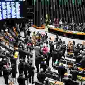 15.abr.2016 - Deputados lotam plenário da Câmara para o debate do impeachment da presidente Dilma Rousseff nesta sexta-feira (15) - Alex Ferreira/Câmara dos Deputados