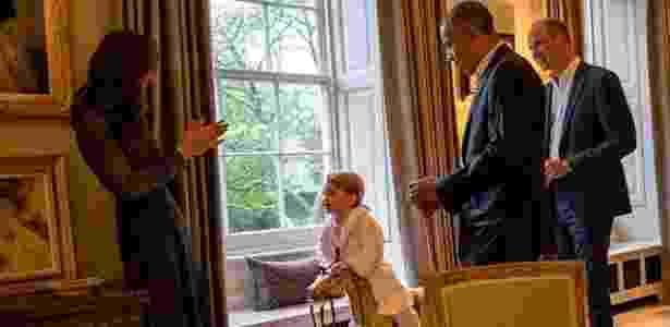 Príncipe George e Barack Obama - Reprodução/Instagram @kensingtonroyal - Reprodução/Instagram @kensingtonroyal