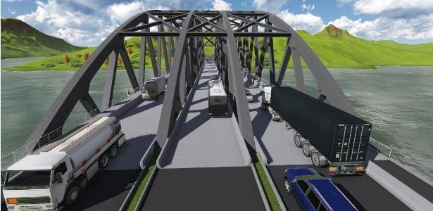 Projeção de como ficaria o BRT Palmas Sul