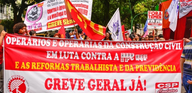 Protestos contra reformas do governo Temer ocorrem em ao menos 16 Estados e no DF - Flavio Contente/Futura Press/Estadão Conteúdo