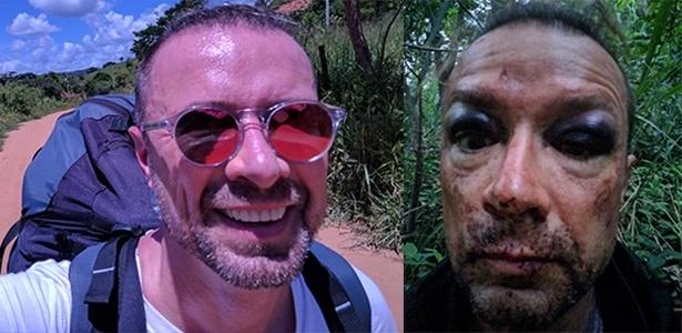 Antes e depois do acidente de Thomas no pico do Ibituruna, em Minas Gerais