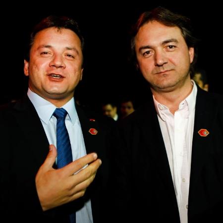 Os irmãos Wesley (esq.) e Joesley Batista, sócios da J&F Investimentos, em foto de 2013 - Zanone Fraissat /Monica Bergamo